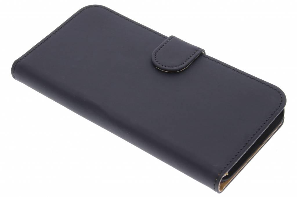 Zwarte effen booktype hoes voor de Huawei G8