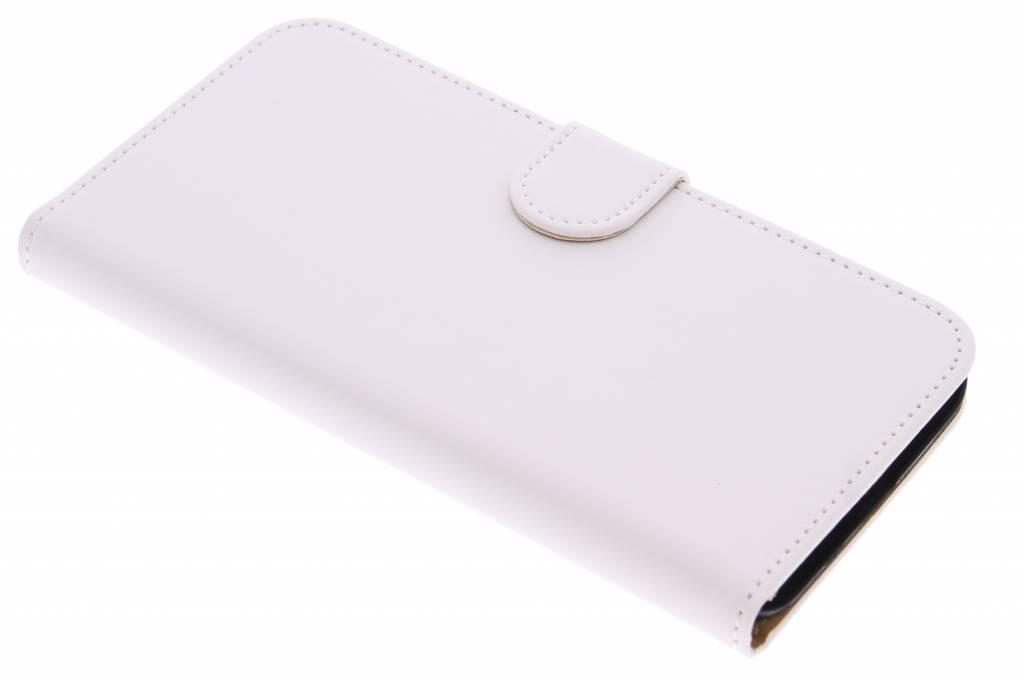 Witte effen booktype hoes voor de Huawei G8