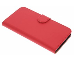 Rood effen booktype hoes Huawei G8