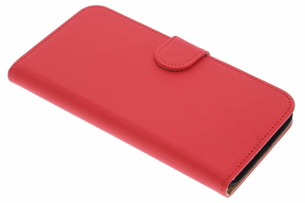 Rode effen booktype hoes voor de Huawei G8