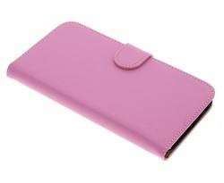 Roze effen booktype hoes Huawei G8