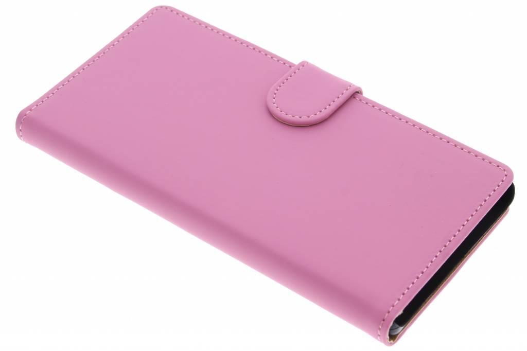 Roze effen booktype hoes voor de Sony Xperia Z5 Premium