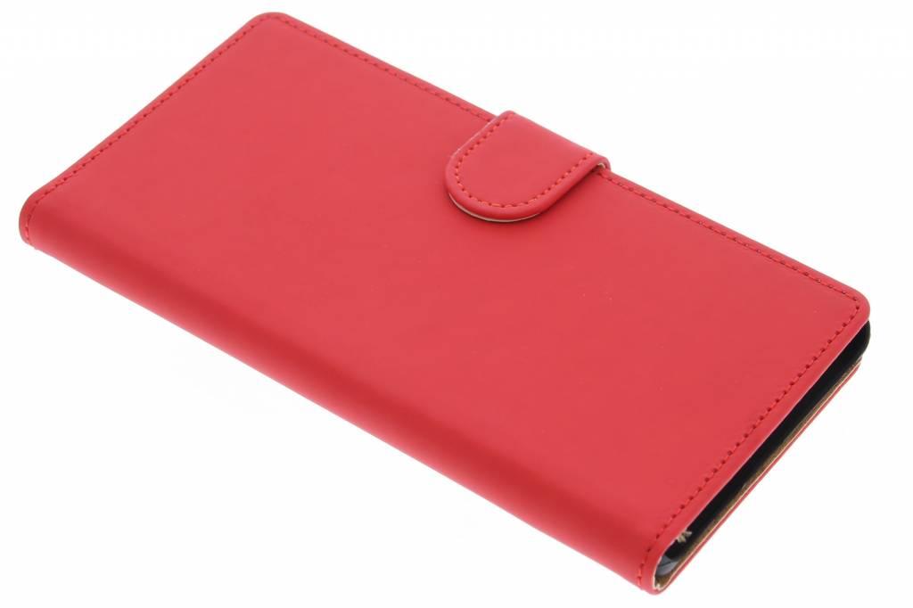 Rode effen booktype hoes voor de Sony Xperia Z5 Premium