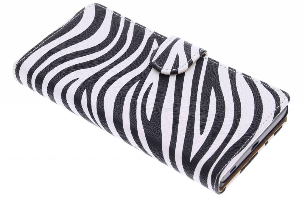 Zebra booktype hoes voor de Sony Xperia Z5