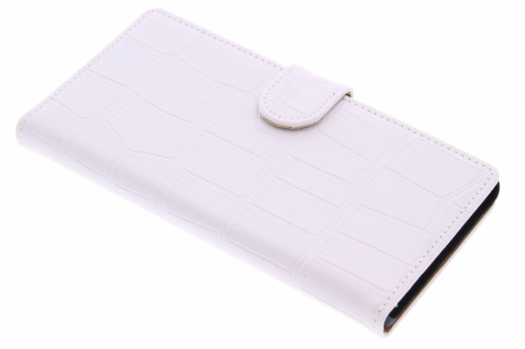 Witte krokodil booktype hoes voor de Sony Xperia Z5 Premium