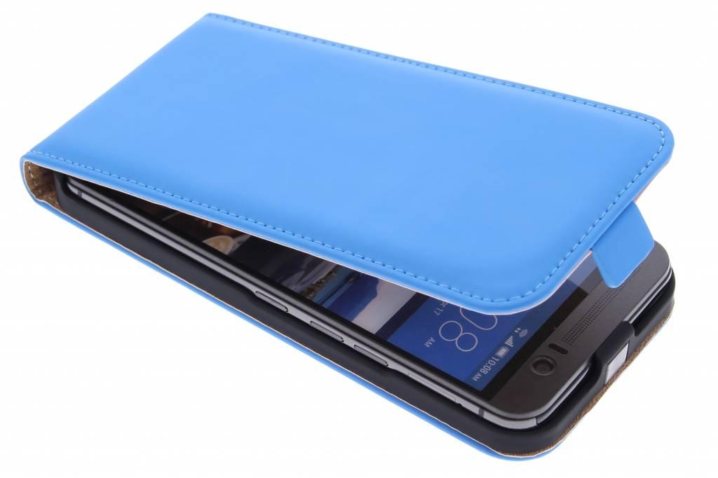 Selencia Luxe Flipcase voor de HTC One M9 Plus - Blauw