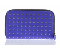 Decoded Leather Zip Wallet - Blauw