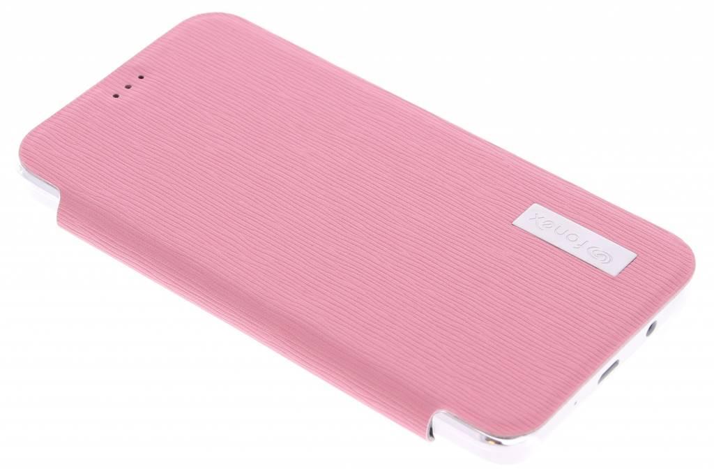 Fonex Crystal Slim Book voor de Samsung Galaxy A3 - Pink