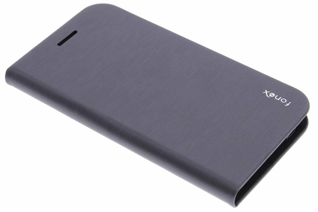 Fonex Shine Book Case voor de Samsung Galaxy S6 Edge - Black