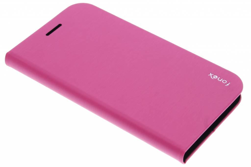 Fonex Shine Book Case voor de Samsung Galaxy S6 Edge - Pink