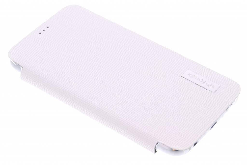 Fonex Crystal Slim Book voor de Samsung Galaxy S6 - White