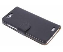Zwart effen booktype hoes Huawei Ascend G7