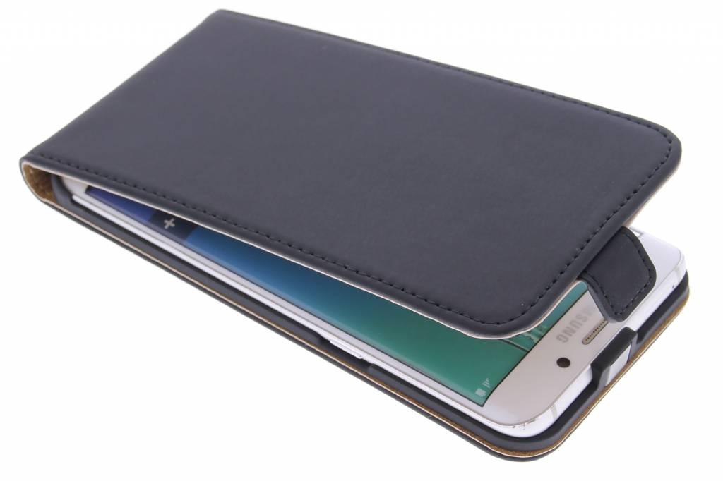 Selencia Luxe Flipcase voor de Samsung Galaxy S6 Edge Plus - Zwart