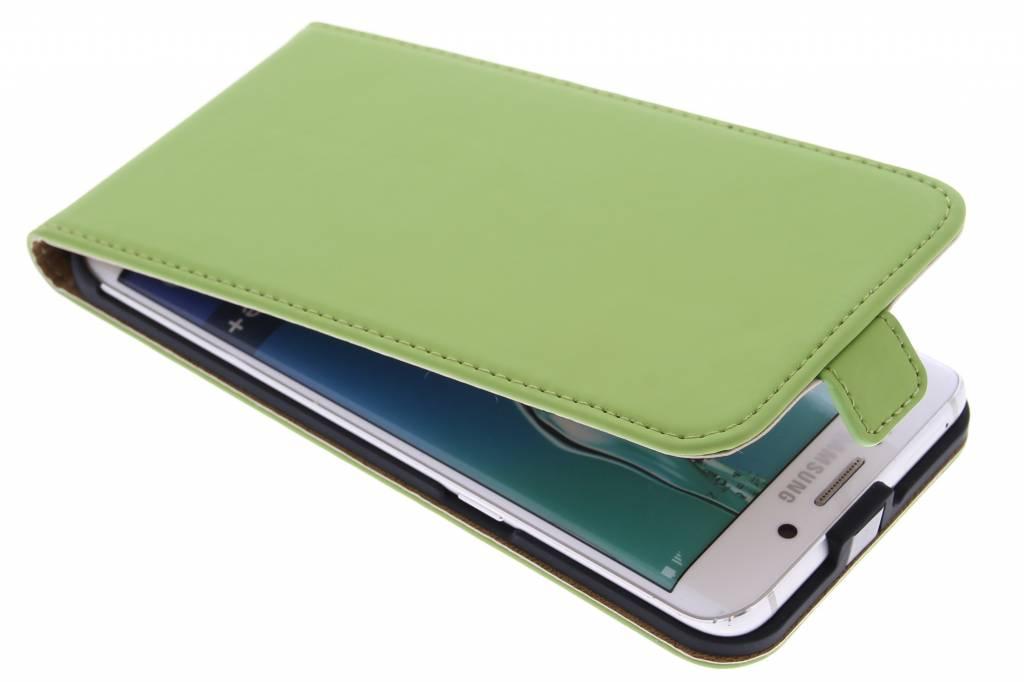 Selencia Luxe Flipcase voor de Samsung Galaxy S6 Edge Plus - Groen