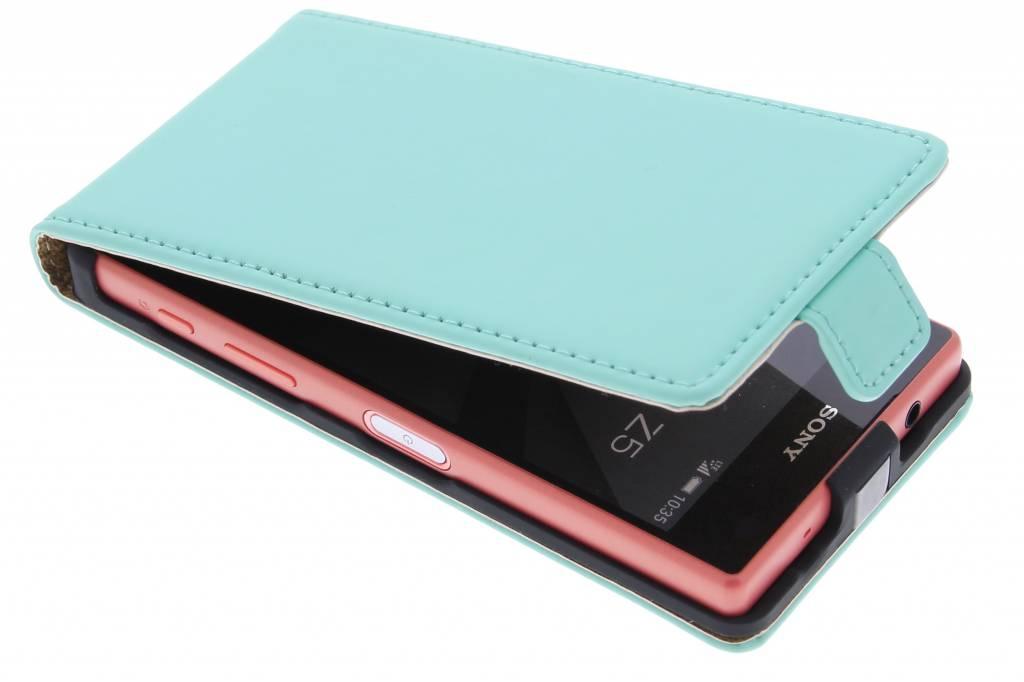 Selencia Luxe Flipcase voor de Sony Xperia Z5 Compact - Mintgroen