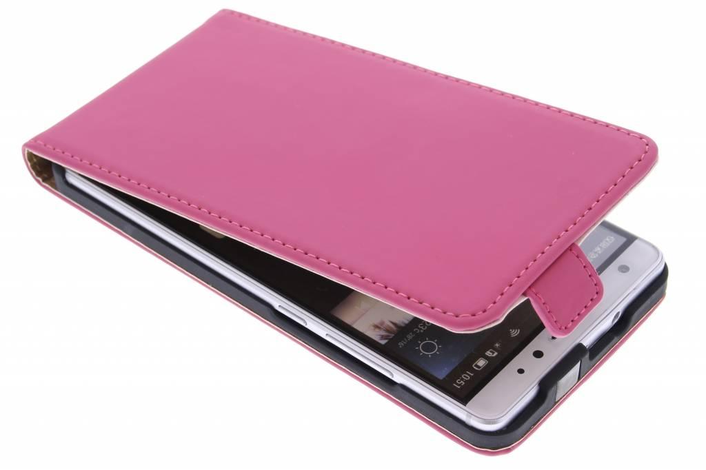 Selencia Luxe Flipcase voor de Huawei Mate S - Fuchsia