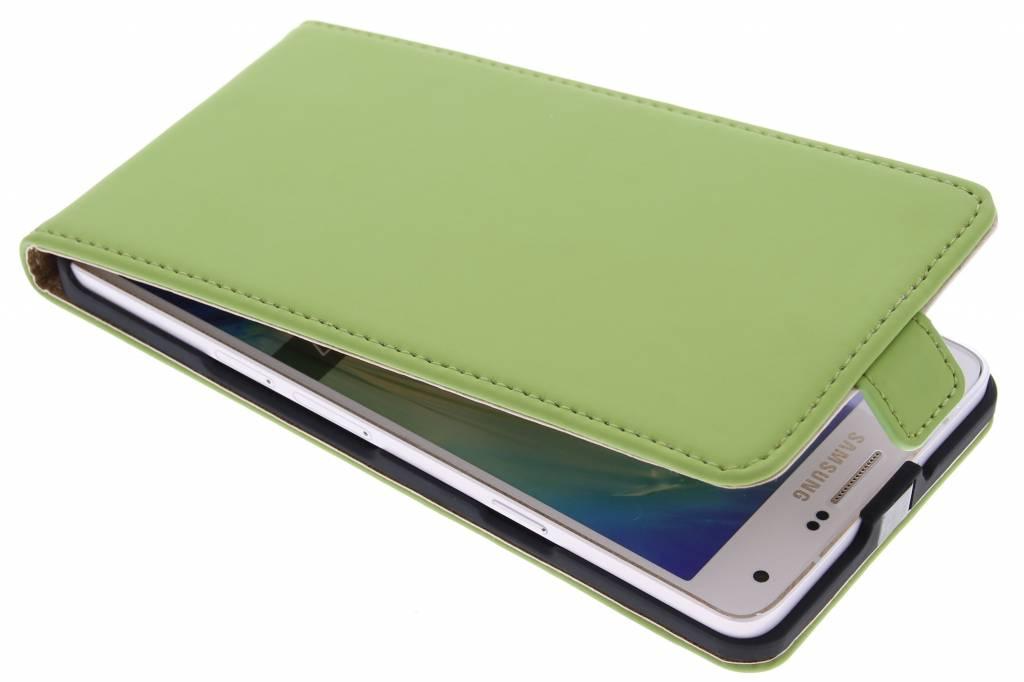 Selencia Luxe Flipcase voor de Samsung Galaxy A7 - Groen