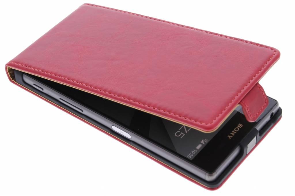 Selencia Luxe lederen Flipcase voor de Sony Xperia Z5 - Rood