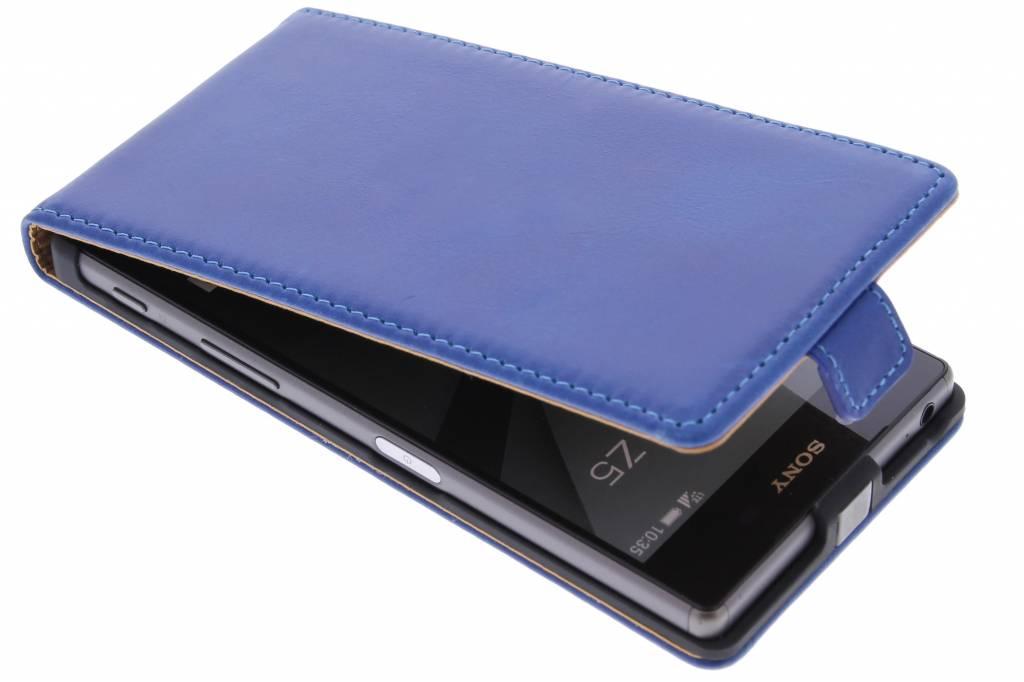 Selencia Luxe lederen Flipcase voor de Sony Xperia Z5 - Blauw
