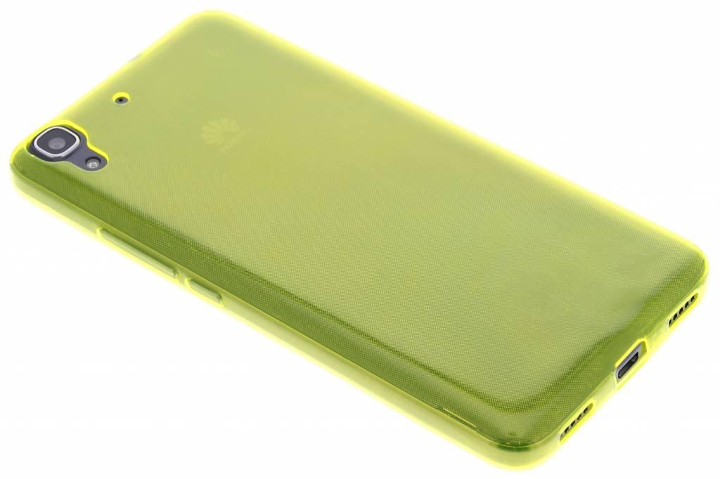 Geel ultra thin transparant TPU hoesje voor de Huawei Y6