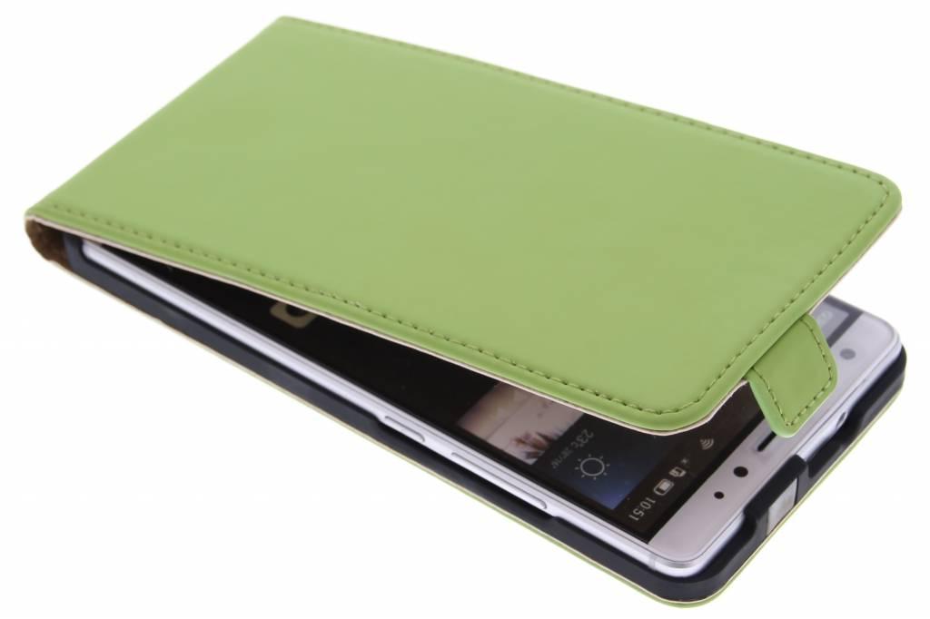 Selencia Luxe Flipcase voor de Huawei Mate S - Groen