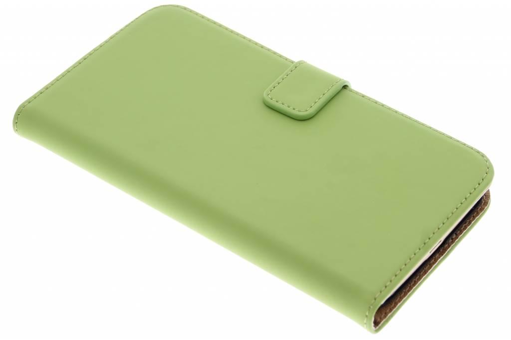 Selencia Luxe Book Case voor de Huawei G8 - Groen