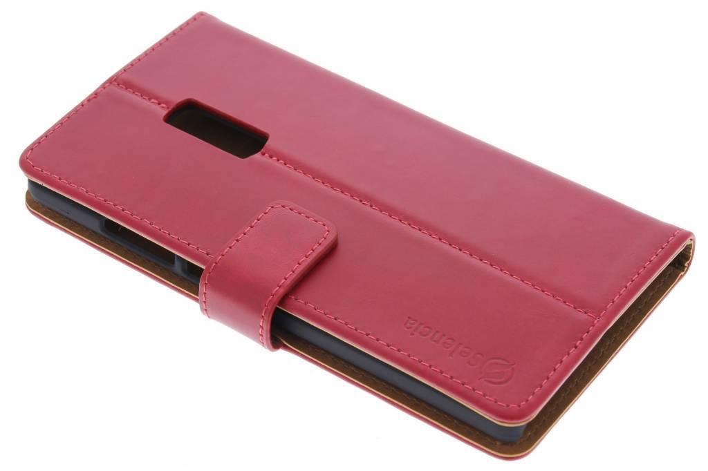 Selencia Luxe Lederen booktype hoes voor de OnePlus 2 - Rood