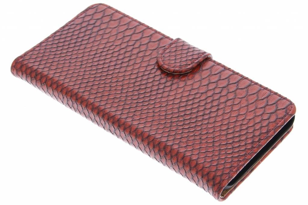 Rode slangen booktype hoes voor de Huawei Nexus 6P