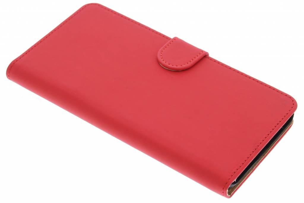 Rode effen booktype hoes voor de Huawei Nexus 6P