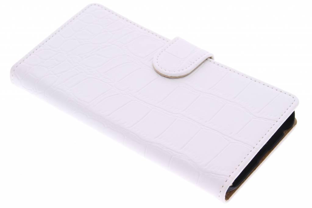 Wit krokodil booktype hoes voor de Huawei Nexus 6P