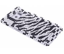 Zebra blingbling hardcase hoesje Galaxy S6 Edge