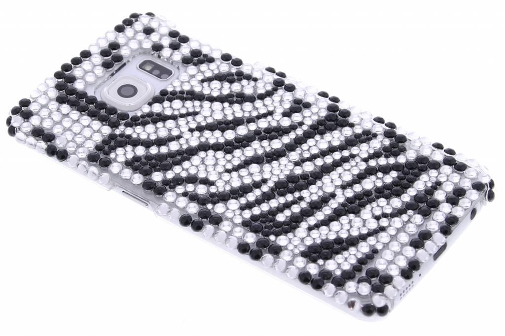Zwart / wit zebra blingbling hardcase hoesje voor de Samsung Galaxy S6 Edge