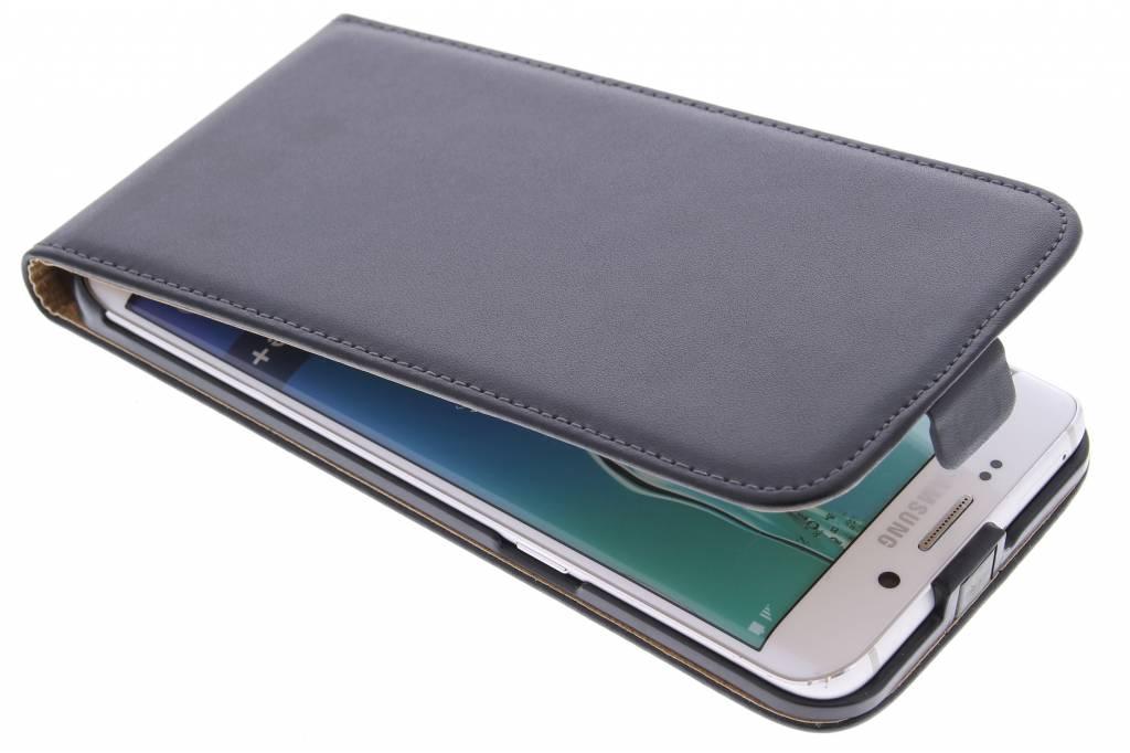 Zwarte luxe flipcase voor de Samsung Galaxy S6 Edge Plus