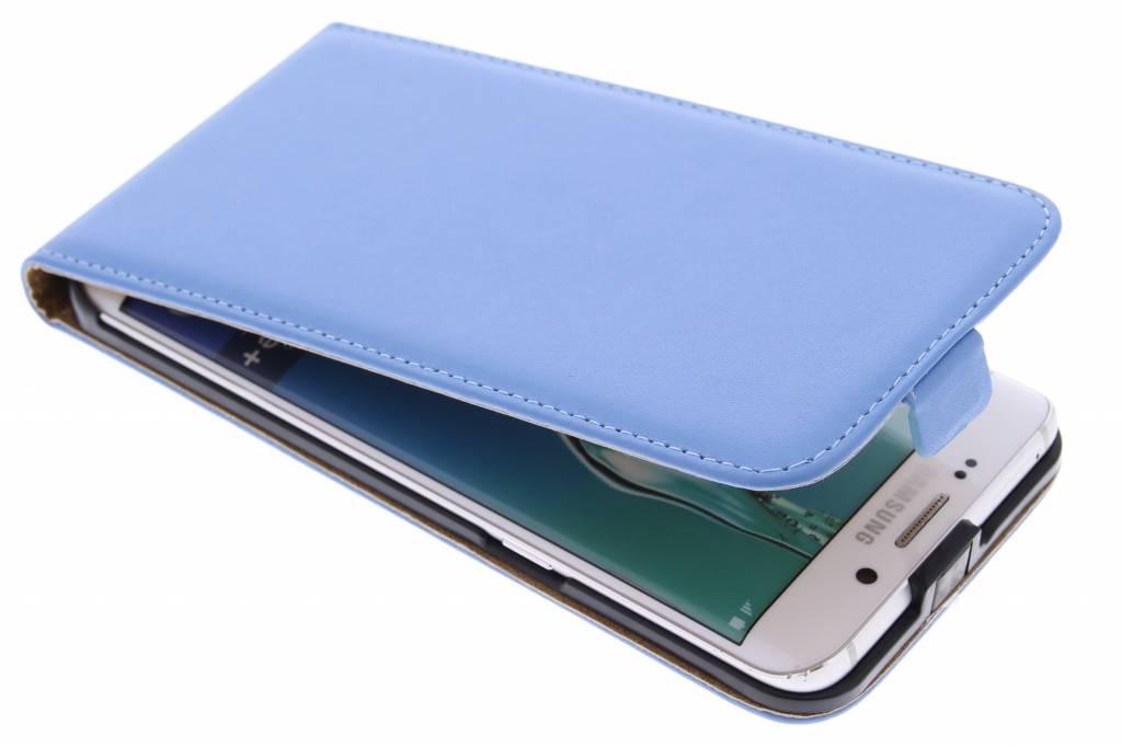 Blauwe luxe flipcase voor de Samsung Galaxy S6 Edge Plus