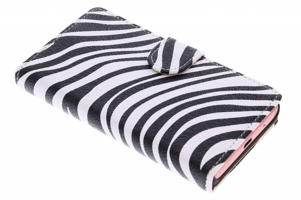 Zebra booktype hoes voor de Sony Xperia Z5 Compact
