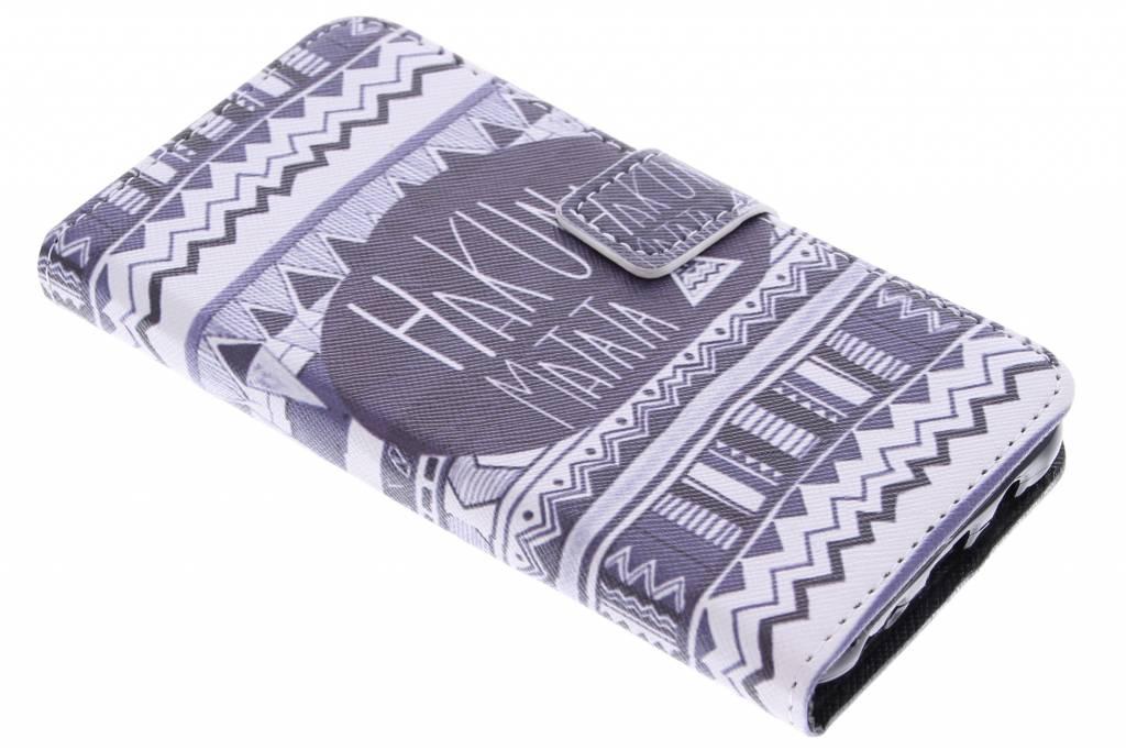 Hakuna Matata design TPU booktype hoes voor de Samsung Galaxy J5