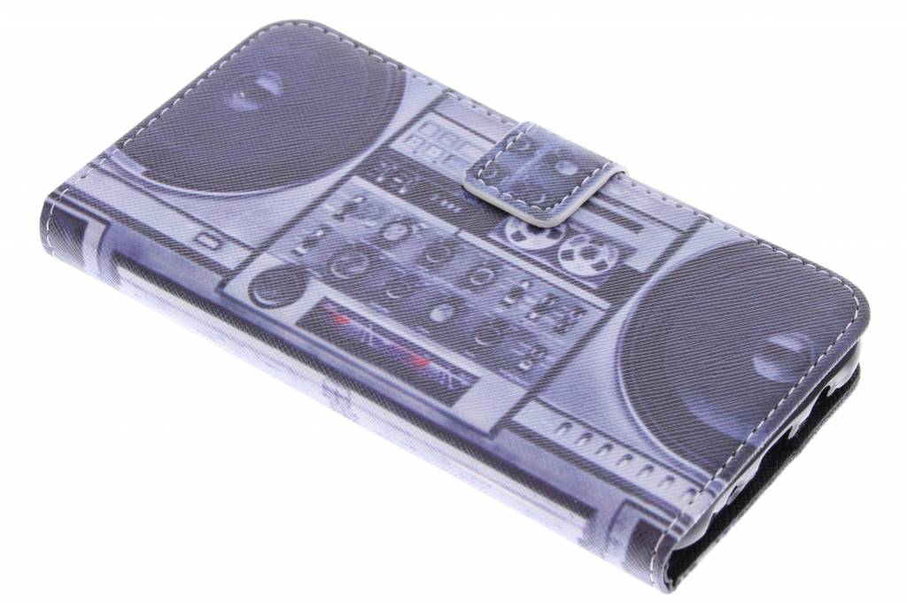 Radio design TPU booktype hoes voor de Samsung Galaxy J5