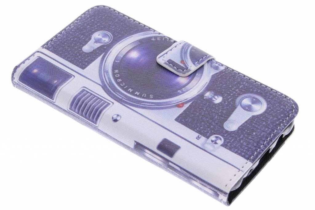 Camera design TPU booktype hoes voor de Samsung Galaxy J5