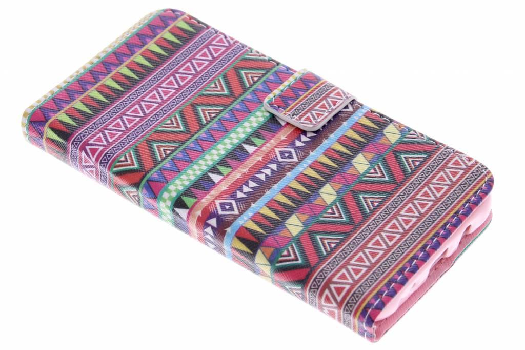 Aztec design TPU booktype hoes voor de Samsung Galaxy J5