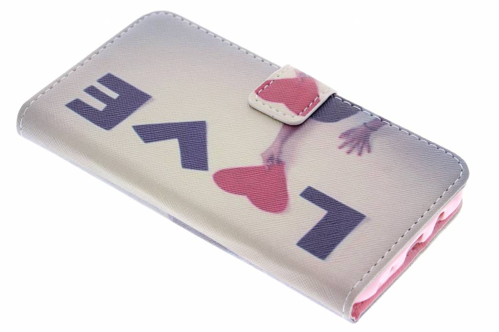 Love design TPU booktype hoes voor de Samsung Galaxy J5