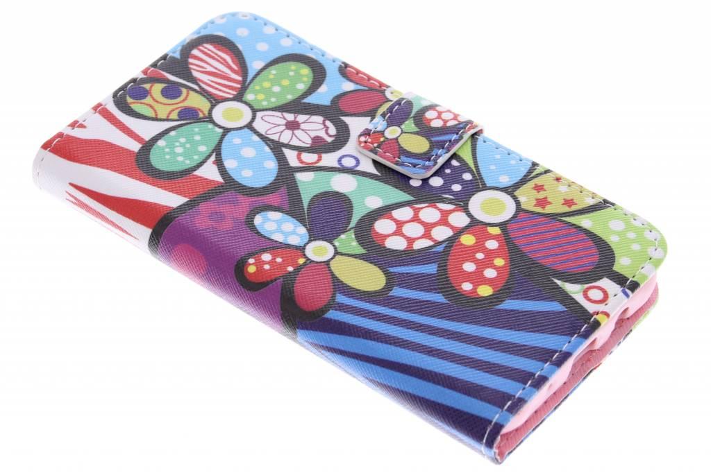 Bloemen design TPU booktype hoes voor de Samsung Galaxy J5