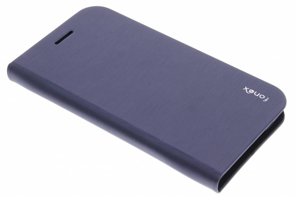 Fonex Shine Book Case voor de Samsung Galaxy S6 Edge - Blue