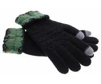 Zwart gebreide touchscreen handschoenen