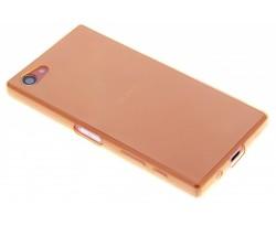 Oranje ultra thin transparant TPU hoesje Xperia Z5 Compact