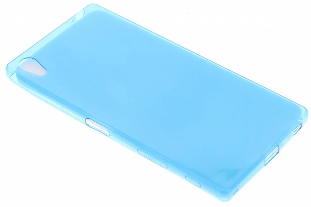 Blauw ultra thin transparant TPU hoesje voor de Sony Xperia Z5 Premium