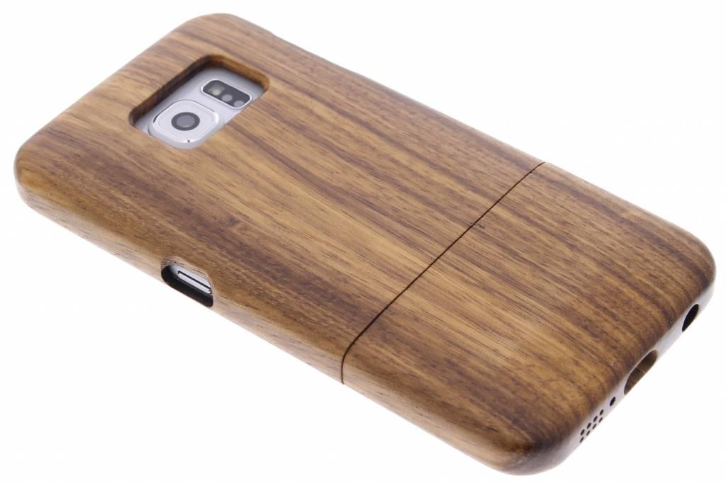 Bruin echt houten hardcase hoesje voor de Samsung Galaxy S6