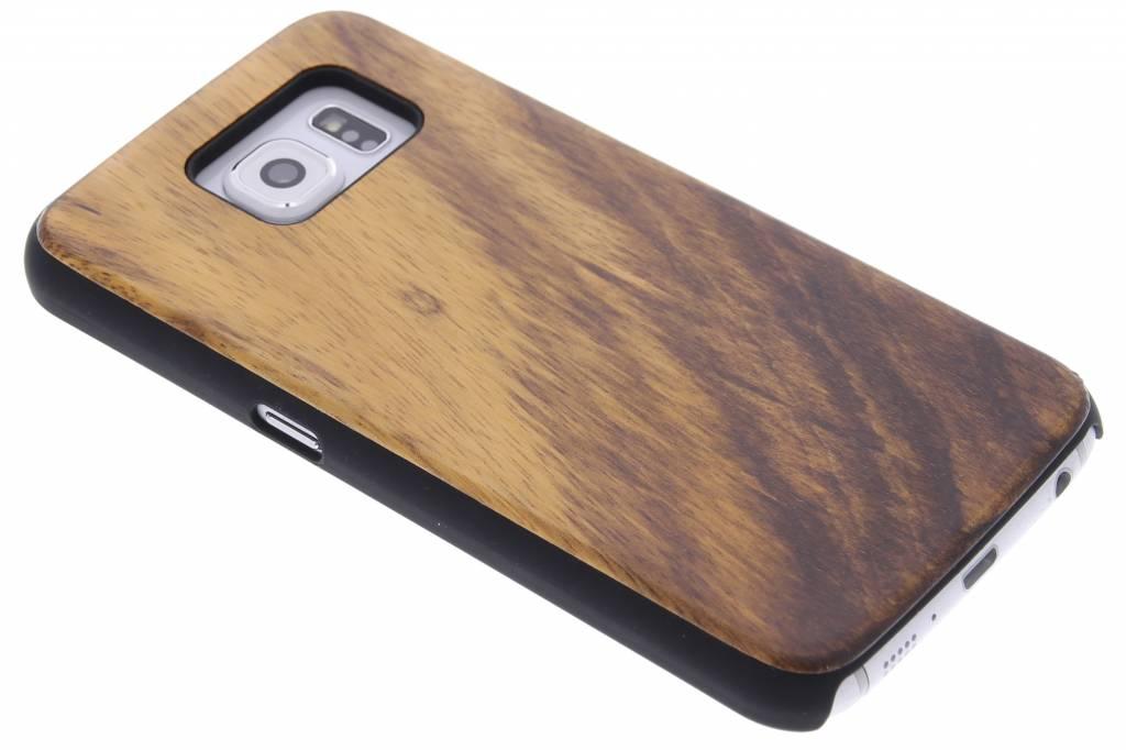 Bruin echt houten design hardcase hoesje voor de Samsung Galaxy S6