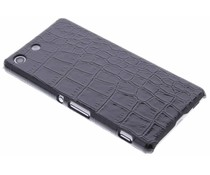Zwart krokodil hardcase Sony Xperia M5