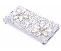 Luxe glazen strass booktype hoes Sony Xperia Z1