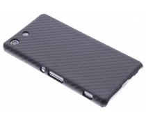 Zwart carbon look hardcase Sony Xperia M5
